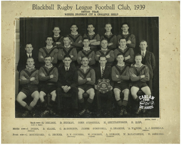Blackball Rugby League Senior Team 1939